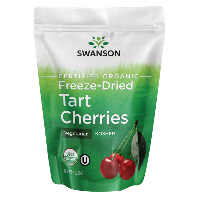 Swanson Organic Freeze-Dried Tart Cherries, Unsweetened