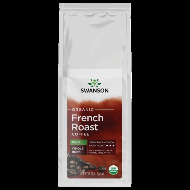 Swanson Organic French Roast Decaf Whole Bean Organic Coffee - Dark