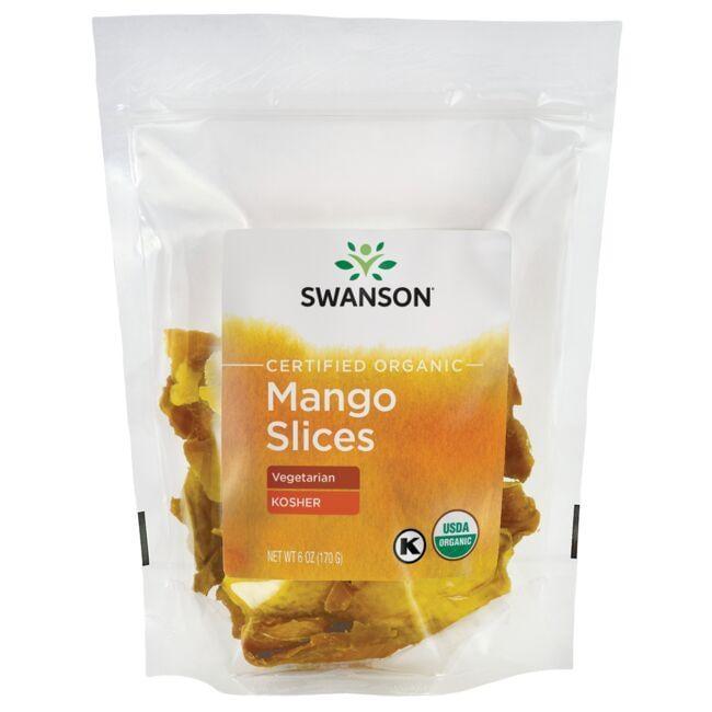 Swanson OrganicCertified Organic Mango Slices, Unsulfured