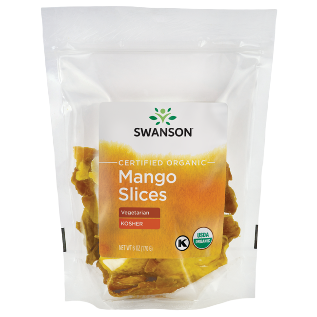 Swanson Organic Certified Organic Mango Slices, Unsulfured
