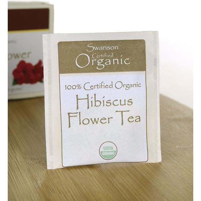 Swanson Organic 100% Organic Hibiscus Flower Tea Close Up