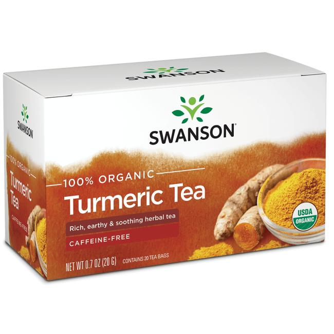 Swanson Organic100% Organic Turmeric Tea