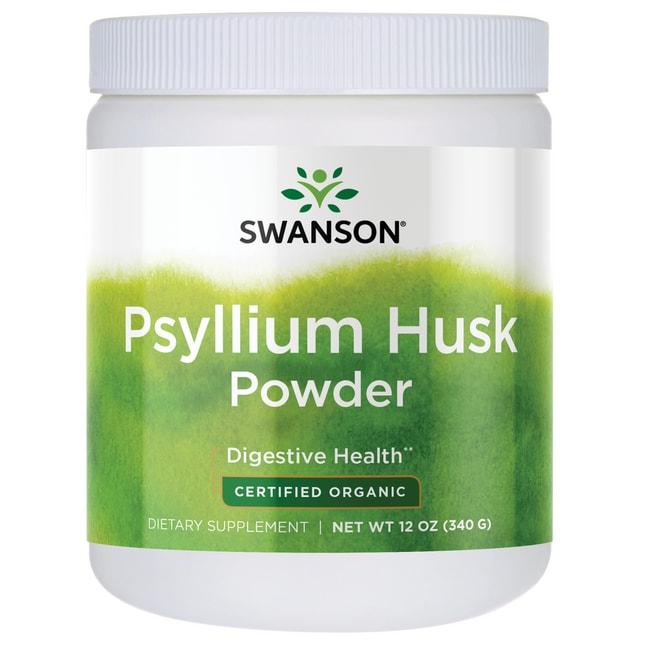 Swanson Organic Cáscara de psilio en polvo orgánica certificada