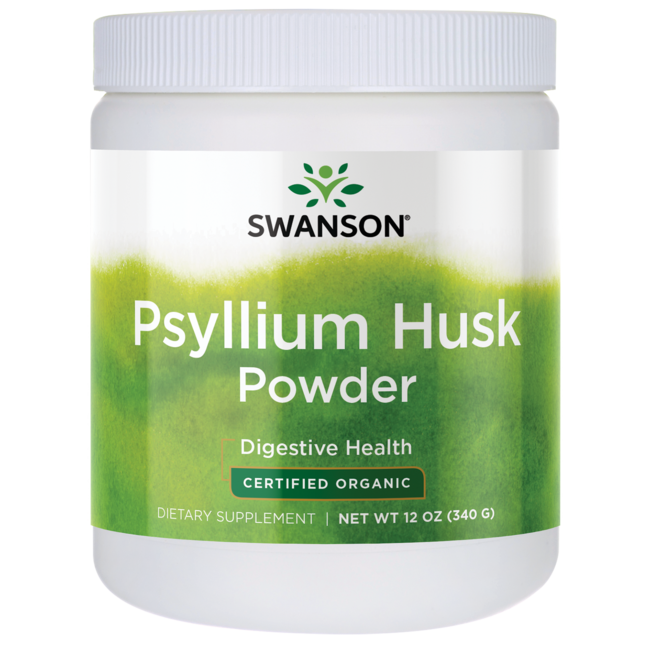 Swanson OrganicCertified Organic Psyllium Husk Powder