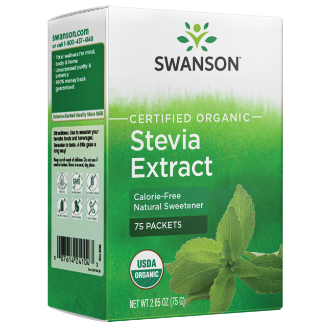 Swanson OrganicStevia Extract - Certified Organic Calorie-Free Sweetener