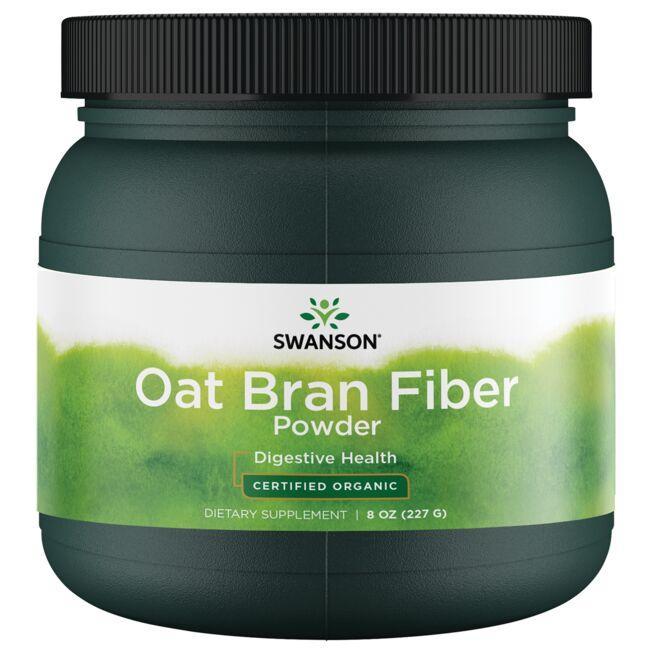 Swanson OrganicOat Bran Fiber Powder - Certified Organic