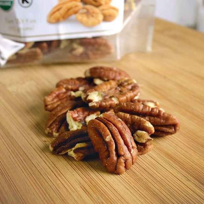 Swanson OrganicCertified Organic Pecans Raw, Halved No Salt Close Up