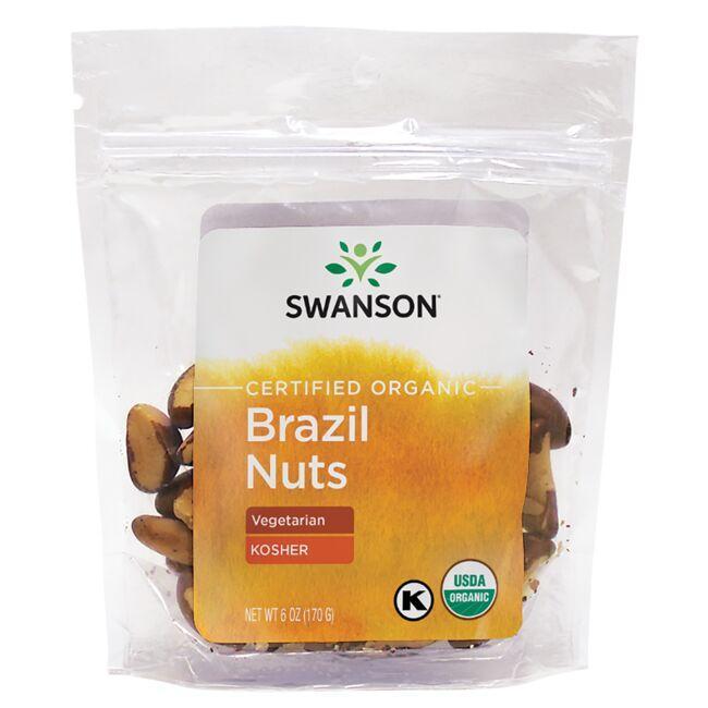 Swanson OrganicCertified Organic Brazil Nuts - Unsalted, Raw, Whole