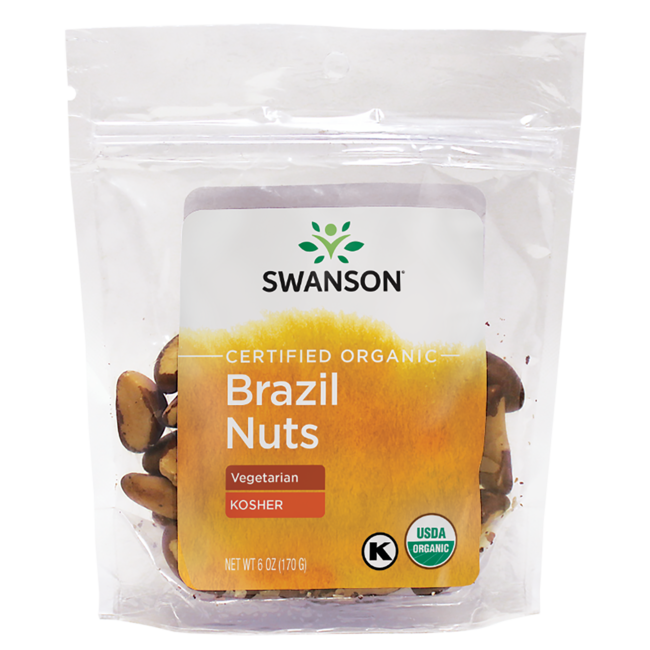 Swanson Organic Brazil Nuts - Unsalted, Raw, Whole