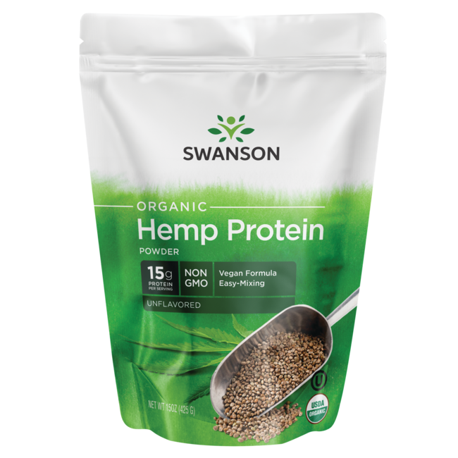 Swanson OrganicCertified Organic Hemp Protein