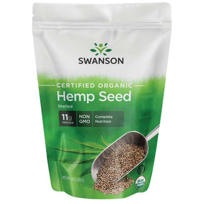 Swanson Organic Certified Organic Hemp Seed Shelled