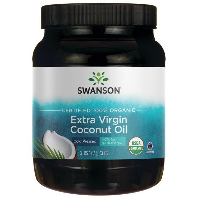 Swanson Organic Certified 100% Organic Extra Virgin Coconut Oil - Cold Pressed