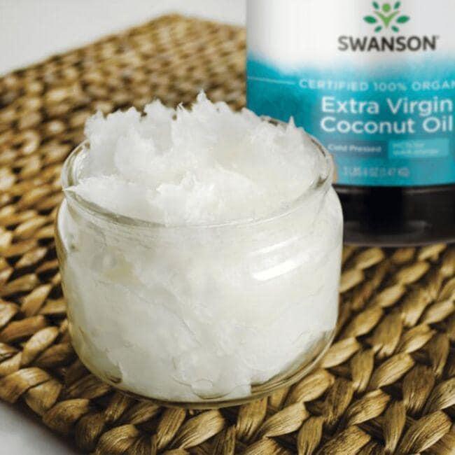 Swanson OrganicCertified 100% Organic Extra Virgin Coconut Oil Close Up