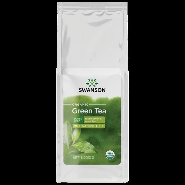 Swanson Organic Certified Organic Loose Leaf Green Tea