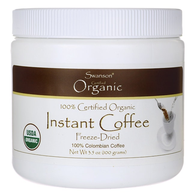 Swanson Organic 100% Certified Organic Instant Coffee Freeze Dried