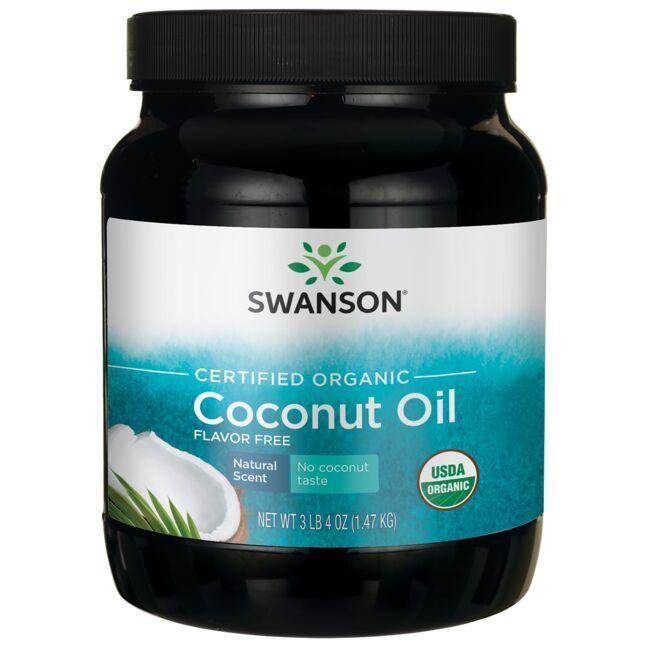 Swanson OrganicCertified Organic Coconut Oil - Flavor Free