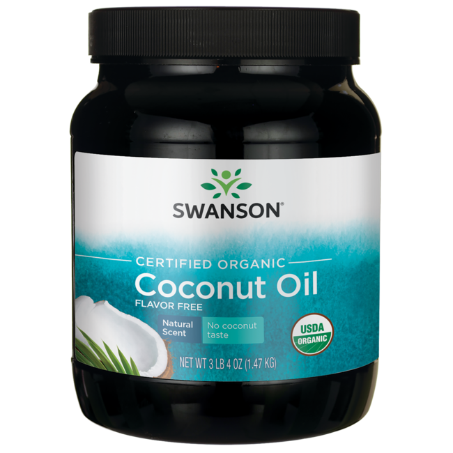 Swanson Organic Certified Organic Flavor Free Coconut Oil