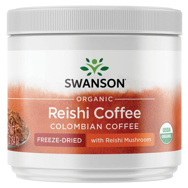 Swanson OrganicOrganic Reishi Coffee Columbian - Freeze-Dried w/Reishi Mushroom