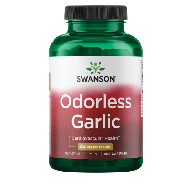 Swanson Best Garlic Supplements Odor-Controlled Garlic