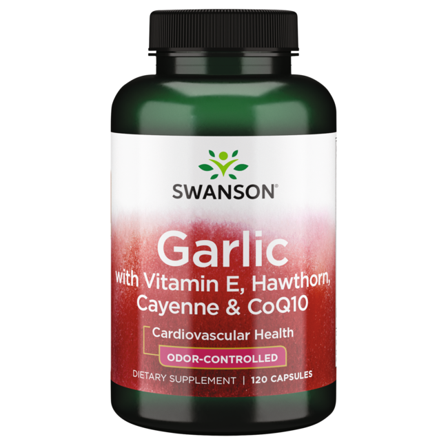 Swanson Best Garlic SupplementsGarlic with Vitamin E, Hawthorn Berry & Cayenne