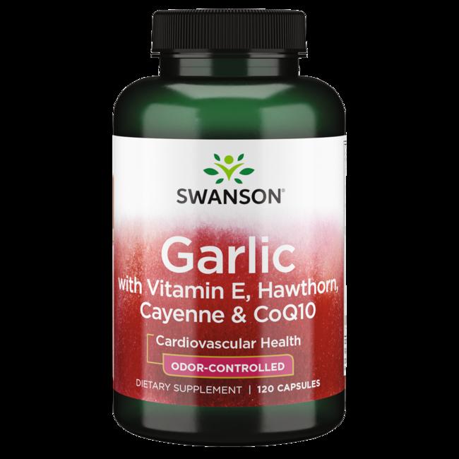 Swanson Best Garlic Supplements Garlic with Vitamin E, Hawthorn Berry & Cayenne
