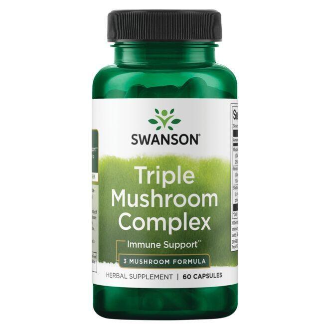 Swanson Superior HerbsHigh-Potency Triple Mushroom Standardized Complex