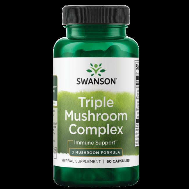 Swanson Superior Herbs Complejo estandarizado de tres hongos de alta potencia