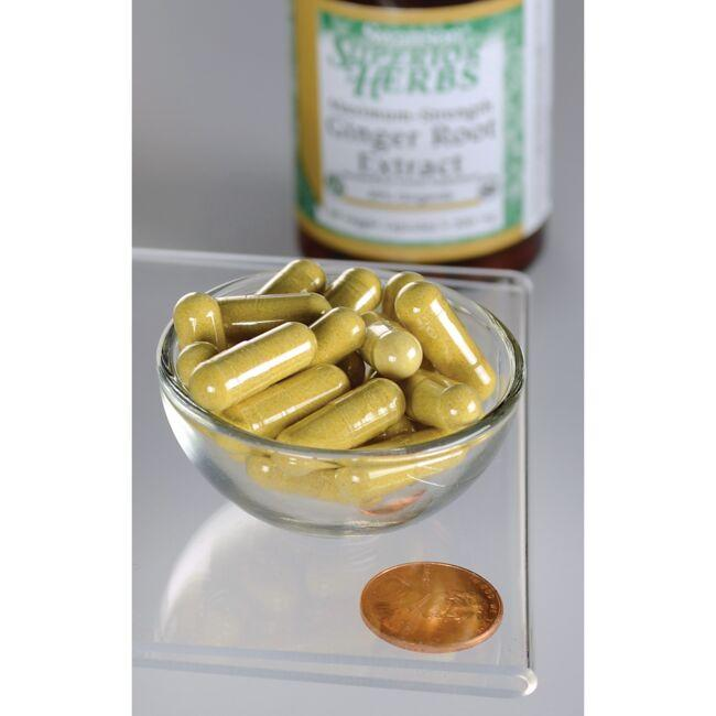 Swanson Superior HerbsMaximum Strength Ginger Root Extract Close Up