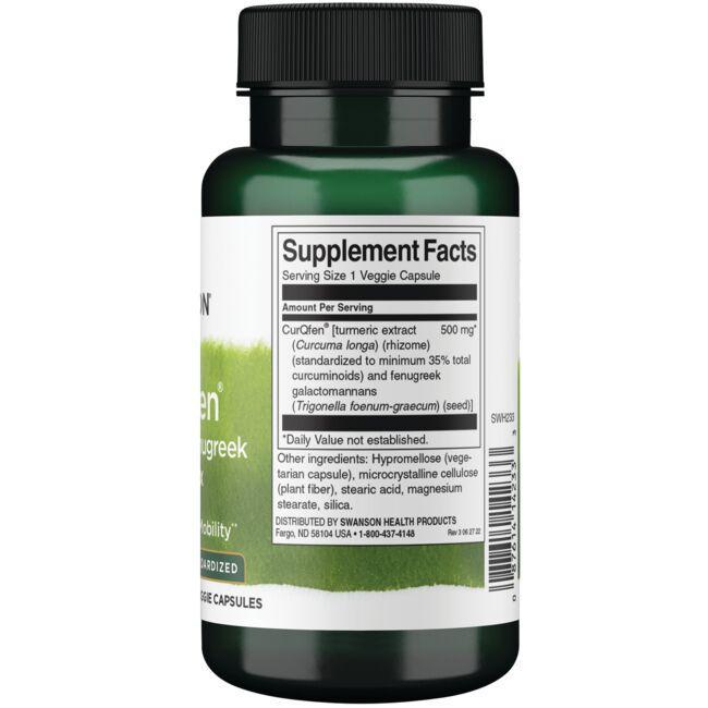 Swanson Superior HerbsControlled Release CurQfen Curcumin/Fenugreek Complex Close Up
