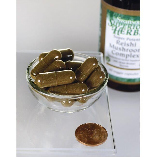 Swanson Superior HerbsSuper Potent Reishi Mushroom Complex Close Up