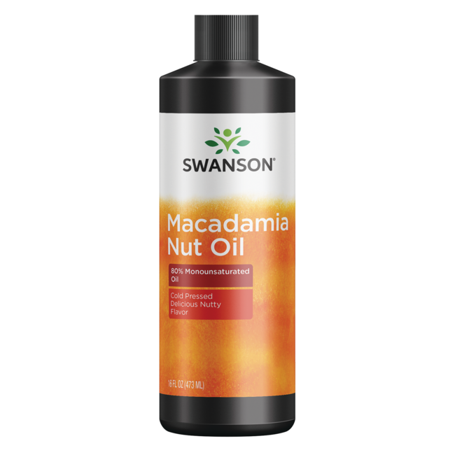 Swanson Healthy FoodsMacadamia Nut Oil, Cold Pressed