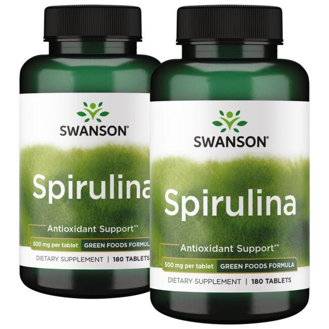 Swanson GreenFoods FormulasSpirulina - 2 Pack