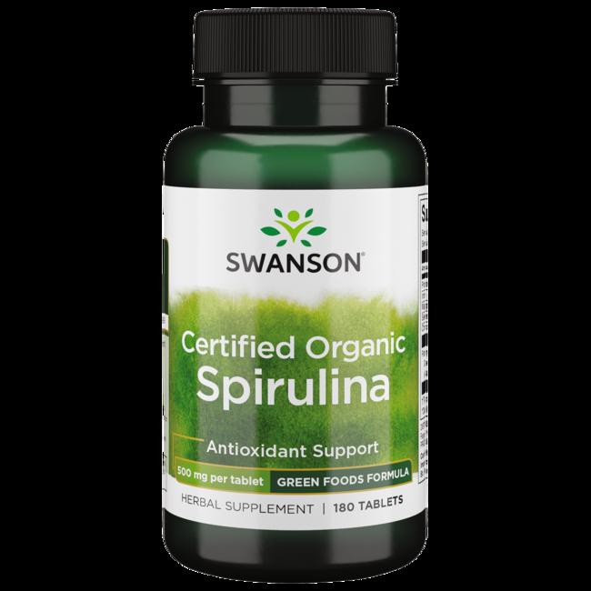 Swanson GreenFoods Formulas 100% Certified Organic Spirulina