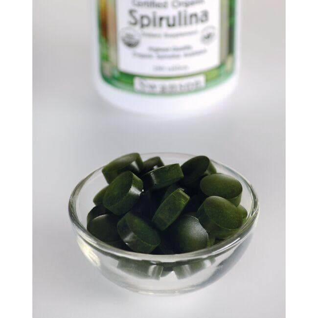 Swanson GreenFoods Formulas Certified Organic Spirulina Close Up