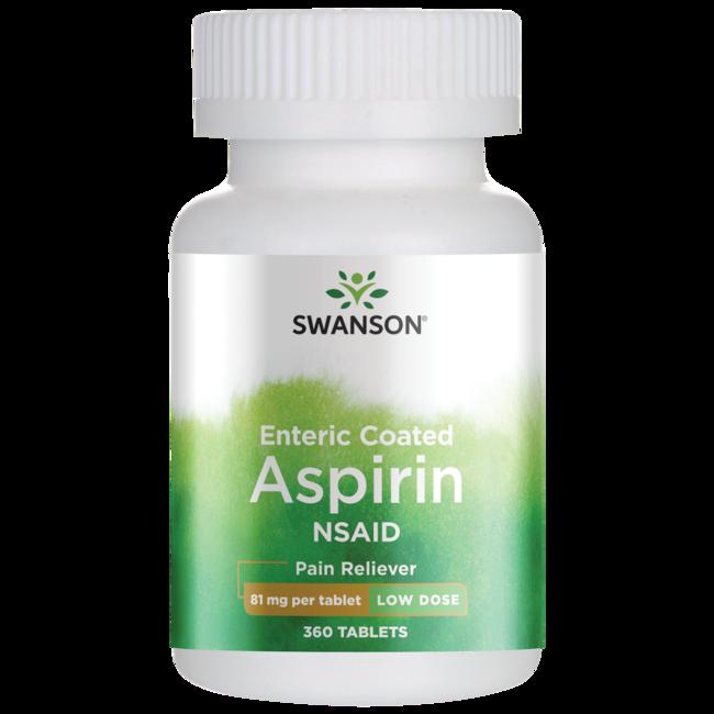 Swanson OTC Low Dose Aspirin Enteric Coated 81 Mg 360 Tabs