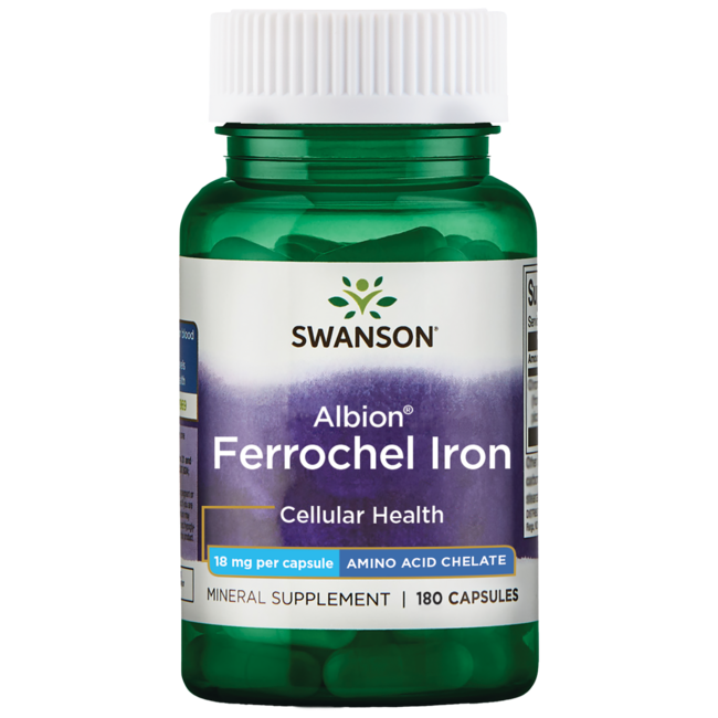 Swanson UltraAlbion Chelated Ferrochel Iron Glycinate