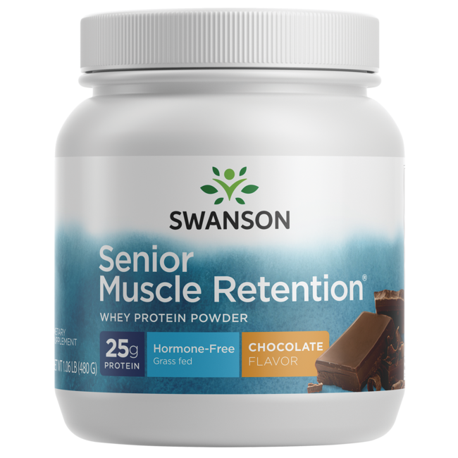Swanson UltraSenior Muscle Retention Protein Powder - Chocolate