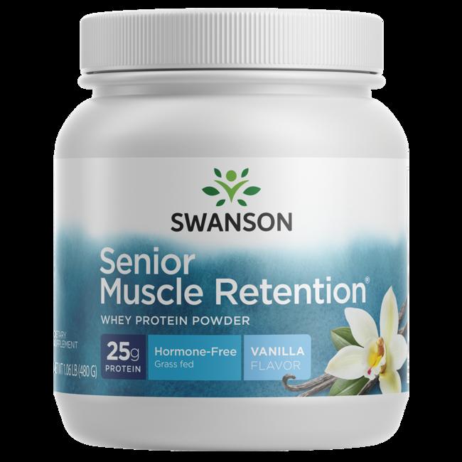 swanson senior muscle retention protein powder vanilla