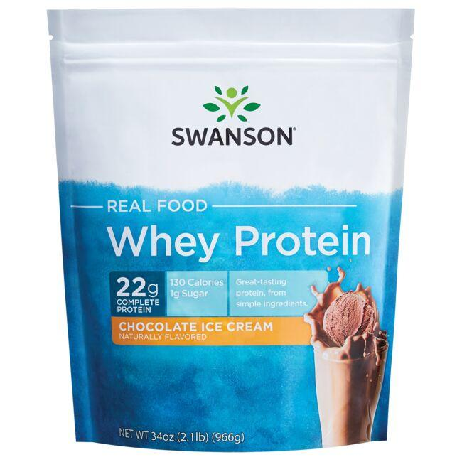 Swanson Ultra Real Food Whey Protein - Chocolate Ice Cream Flavor