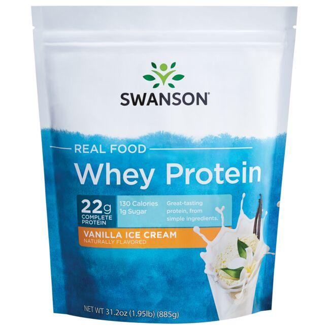 Swanson UltraReal Food Whey Protein - Vanilla Ice Cream Flavor