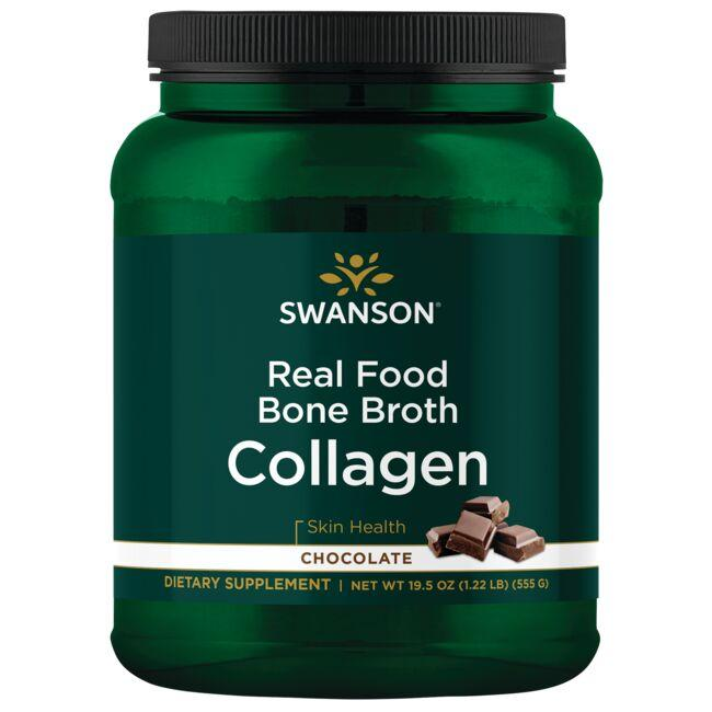 Swanson Ultra Real Food Bone Broth Collagen - Chocolate