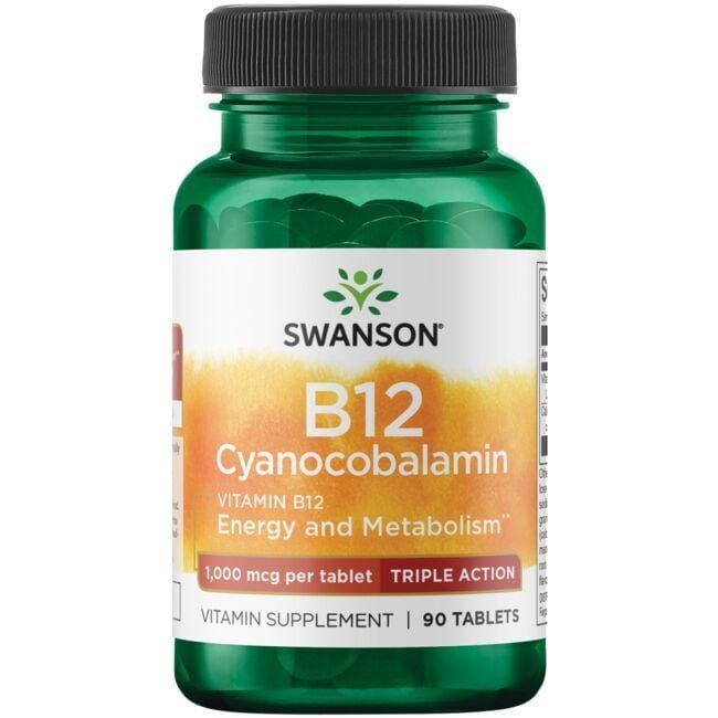 Swanson UltraVitamin B-12 Cyanocobalamin - Triple Action