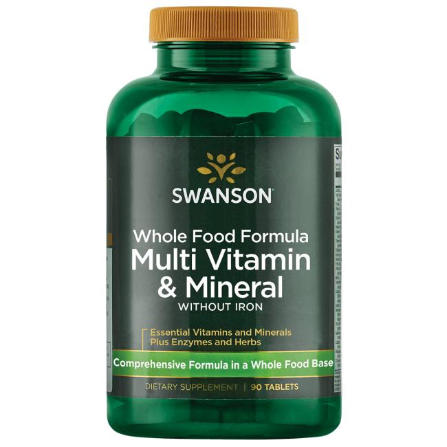 Whole Food Multivitamin W Out Iron Swanson Health Products