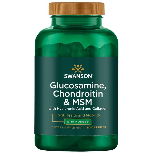 Swanson UltraGlucosamine, Chondroitin & MSM with Hyaluronic Acid and Collagen