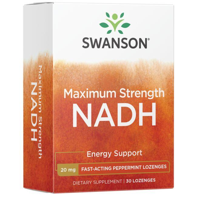 Swanson Ultra Maximum Strength NADH - Fast-Acting Peppermint