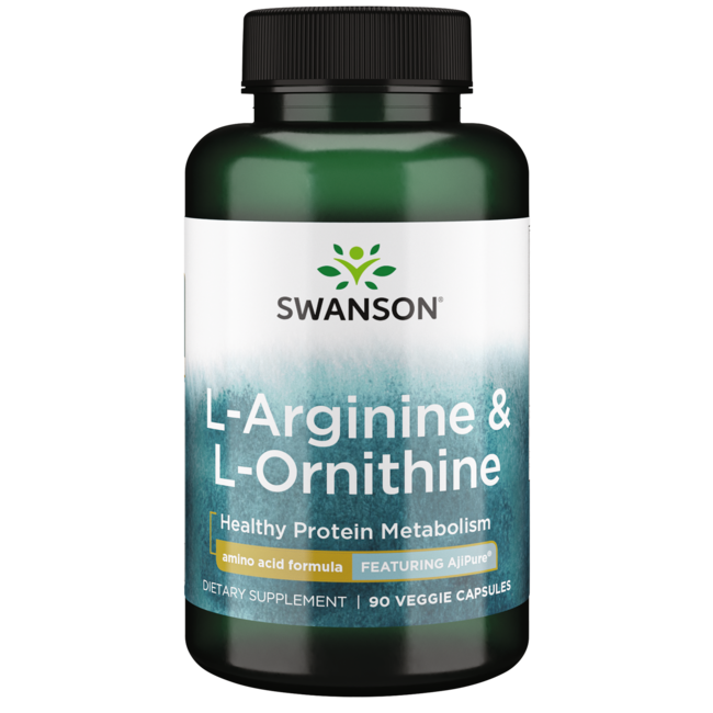 Swanson UltraAjiPure L-Arginine (Pharmaceutical Grade) with Ornithine