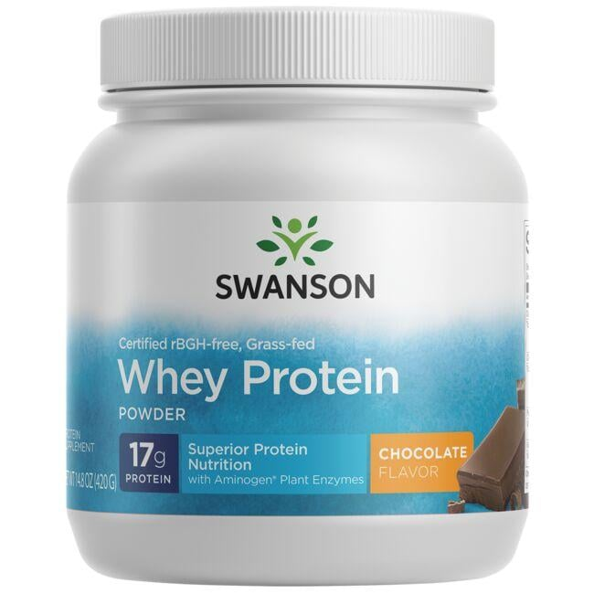 Swanson Ultra Certified rBGH-Free Grass-Fed Whey Protein Powder - Chocolate