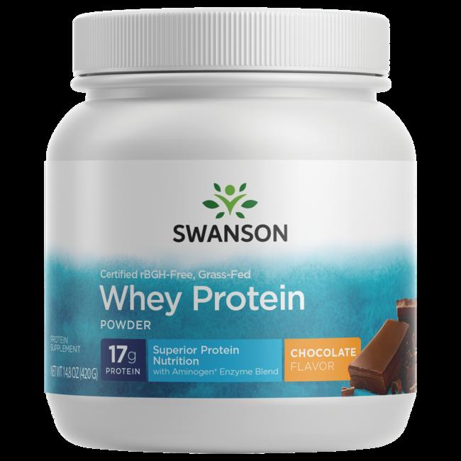 Swanson UltraGrass-Fed, Certified rBGH-Free Chocolate Whey Protein Powder