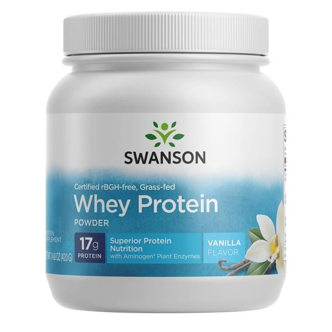 Swanson Ultra Certified rBGH-Free Grass-Fed Whey Protein Powder - Vanilla