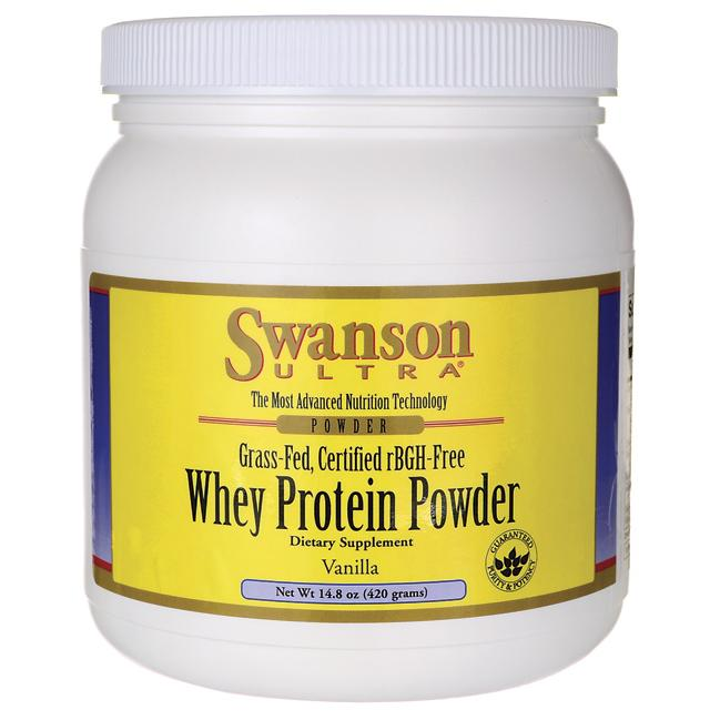 Swanson UltraCertified rBGH-Free Grass-Fed Whey Protein Powder - Vanilla